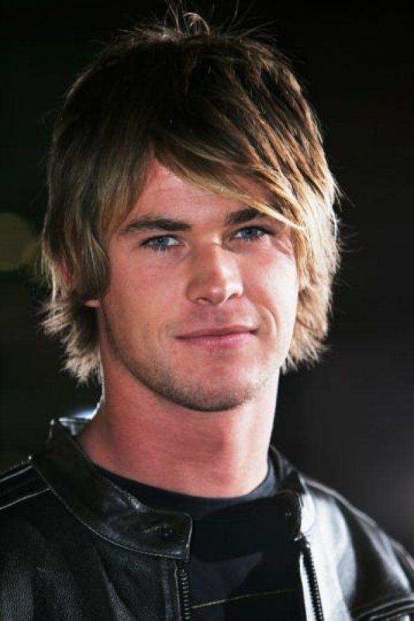 Chris Hemsworth con este corte de cabello. Menos mal se volvió Thor y se hizo más sexy. Foto:vía Getty Images