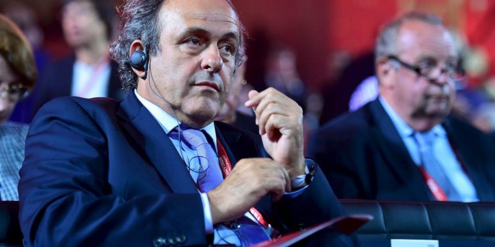 Michel Platini dimitió como presidente de la UEFA Foto:Getty Images