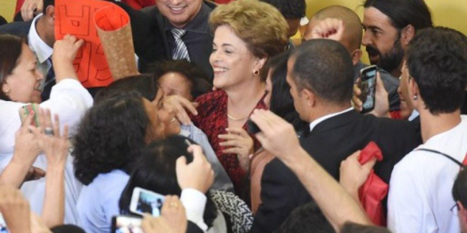 Una noticia que alegró a la mandataria. Foto:AFP