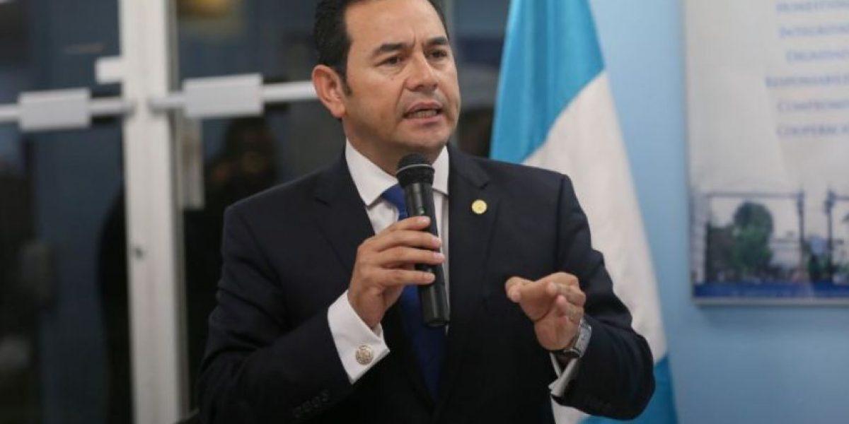 Jimmy Morales tiene 15 días para tomar una decisión acerca de las reformas a la Ley Electoral