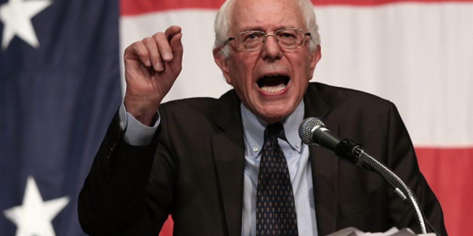 Sanders gana, pero no se acerca. Foto:vía Getty Images