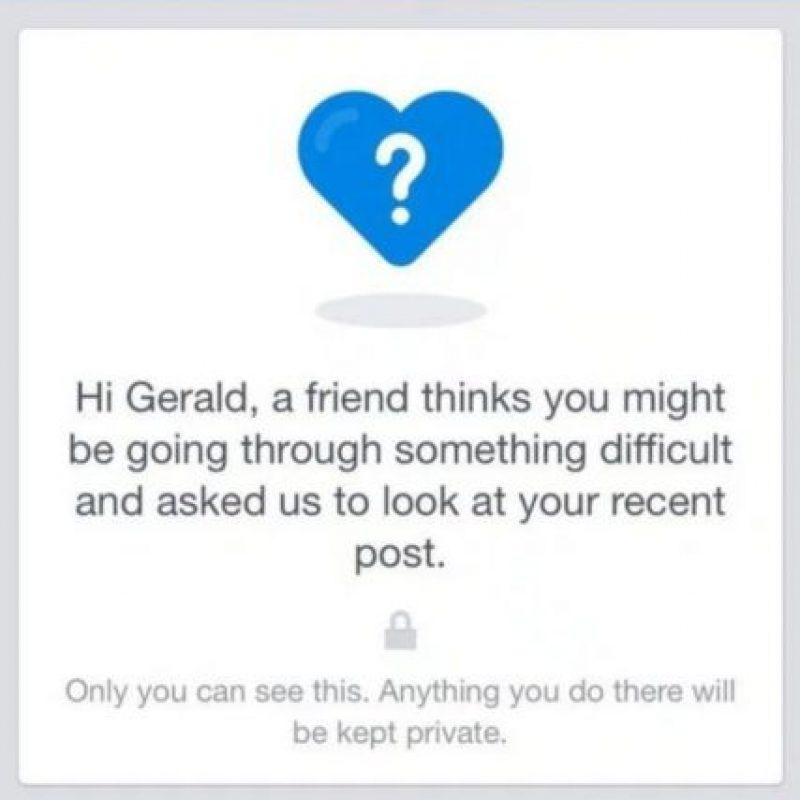 Para hacerlo, la red social comenzó a desplegar en Reino Unido una nueva característica que ayudará a los usuarios que se han planteado la posibilidad de quitarse la vida. Foto:vía Facebook
