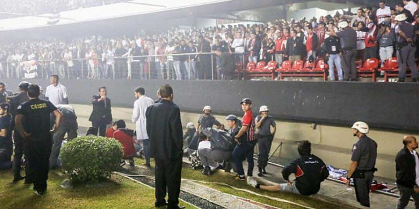 Ocurrió después del gol de Michel Bastos (Sao Paulo) Foto:Getty Images
