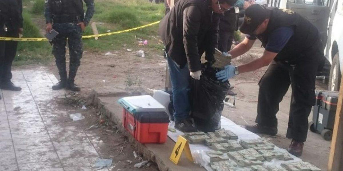 Caos vial de viernes 13 en San José Pinula por incautación de dólares