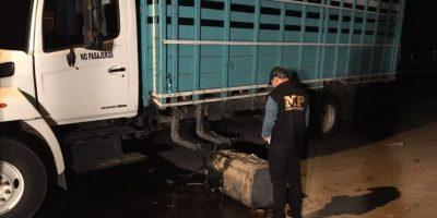 Este hallazgo en un camión afectó la salida en San José Pinula