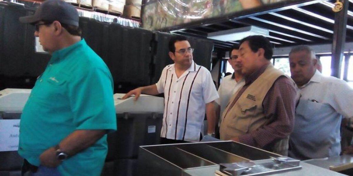 Jimmy Morales recibe nueva donación de medicamentos