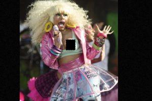 Nicki Minaj y su pezón. Foto:vía Getty Images