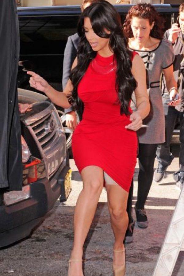 Kim y su otro spandex. Foto:vía Getty Images