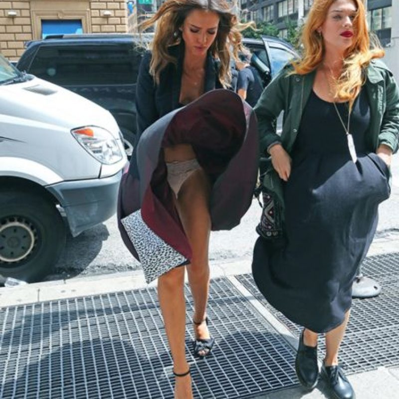Jessica Alba a lo Marilyn. Foto: vía Getty Images