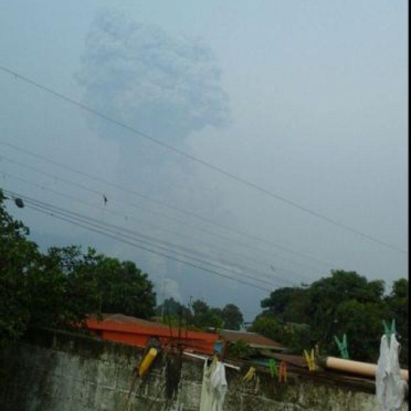 Erupción del domingo Foto:Conred
