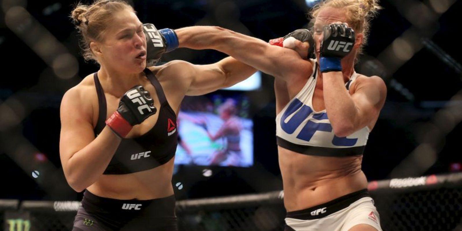 """""""Rowdy"""" perdió el título y el invicto el 15 de noviembre del año pasado, ante Holly Holm Foto:Getty Images"""