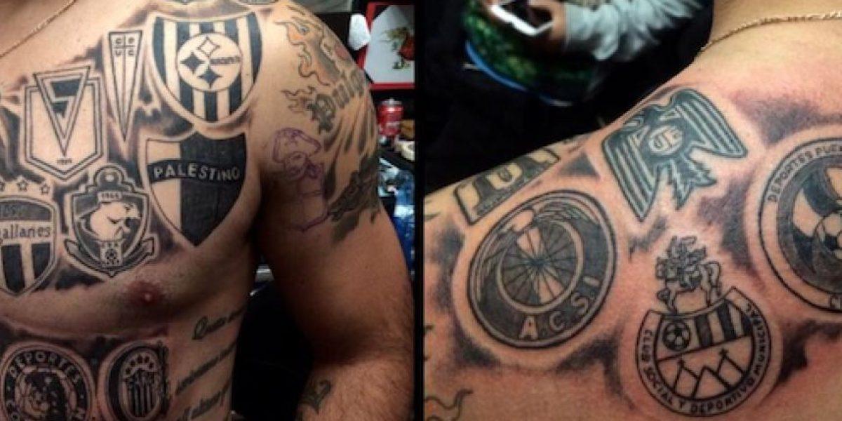 Jugador se tatúa los escudos de sus exequipos, entre ellos Municipal