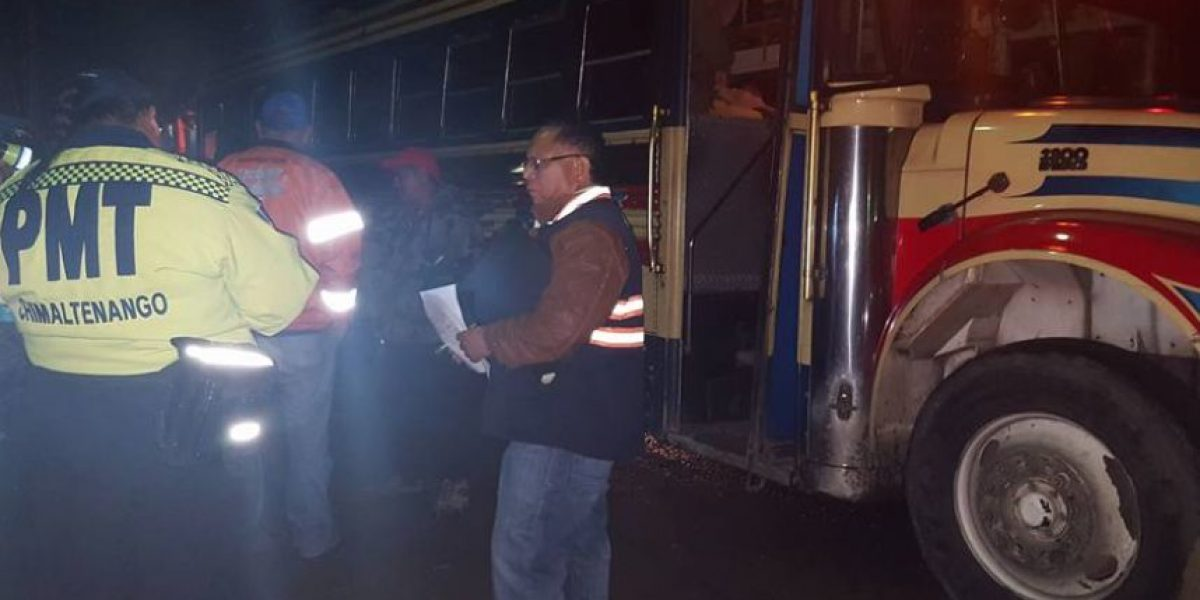 Realizan operativos en ruta Interamericana para prevenir accidentes de autobús