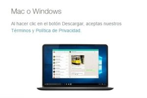 Está disponible para OS 10.9 en adelante y Windows 8 en adelante. Foto:WhatsApp