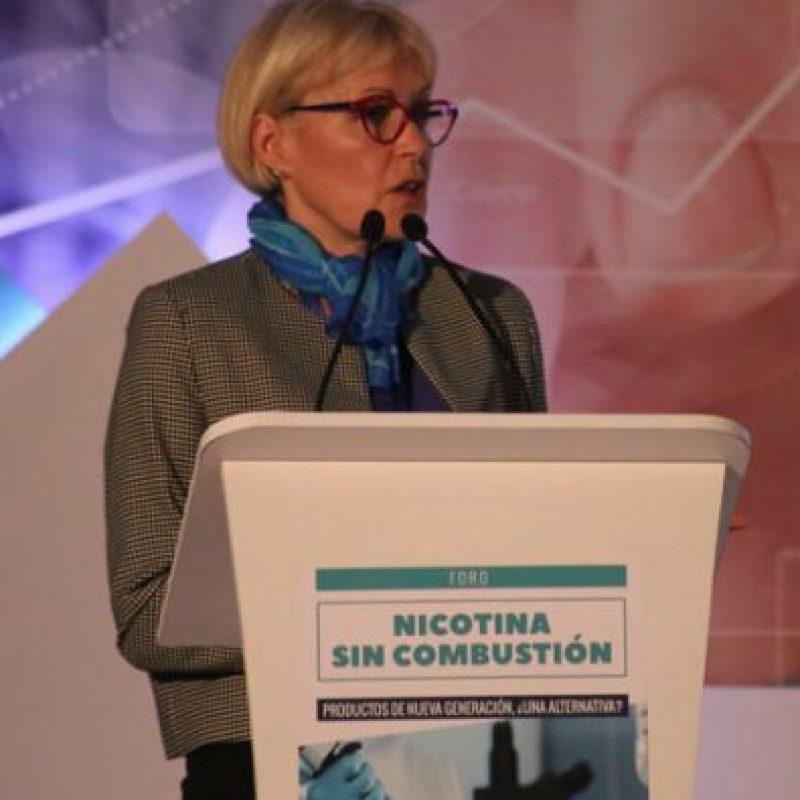 Ruth Dempsey, jefa del área científica de Philip Morris International, dio su punto de vista sobre las nuevas alternativas. Foto:Portafolio