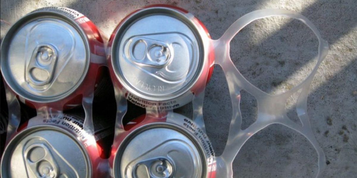 Esta compañía de cerveza quiere que tiren el plástico de los six pack al mar