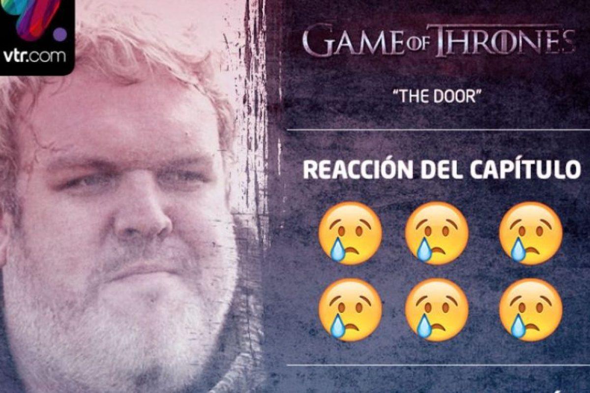"""""""Hodor"""" fue uno de los personajes más queridos de """"Game of Thrones"""". Foto:vía Twitter/VTR"""