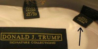 Los trajes de Trump oscilan entre los 150 y los 188 dólares. Foto:vía Twitter