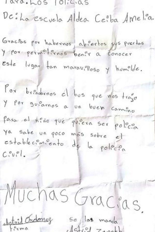 La carta. Foto:PNC