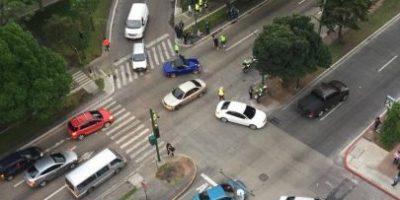 Ni con semáforos terminan los accidentes de tránsito en la Avenida Reforma y 9a. calle zona 10