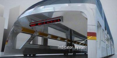 Así luciría el bus del futuro Foto:China TBS