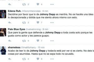 Reacciones en Twitter respecto a las acusaciones de Heard