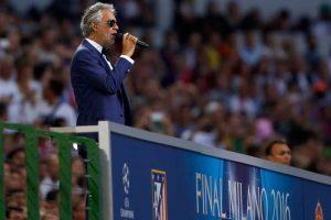 Interpretó el Himno de la Champions League. Foto:Getty Images