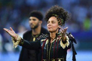 La encargada del show fue la cantante Alicia Keys. Foto:Getty Images