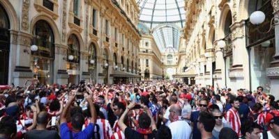 """Los """"Atléticos"""" vibraron con cantos para su equipo. Foto:Getty Images"""