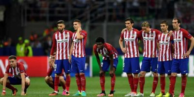 Los futbolistas estaban destrozados por la oportunidad que perdieron. Foto:Getty Images