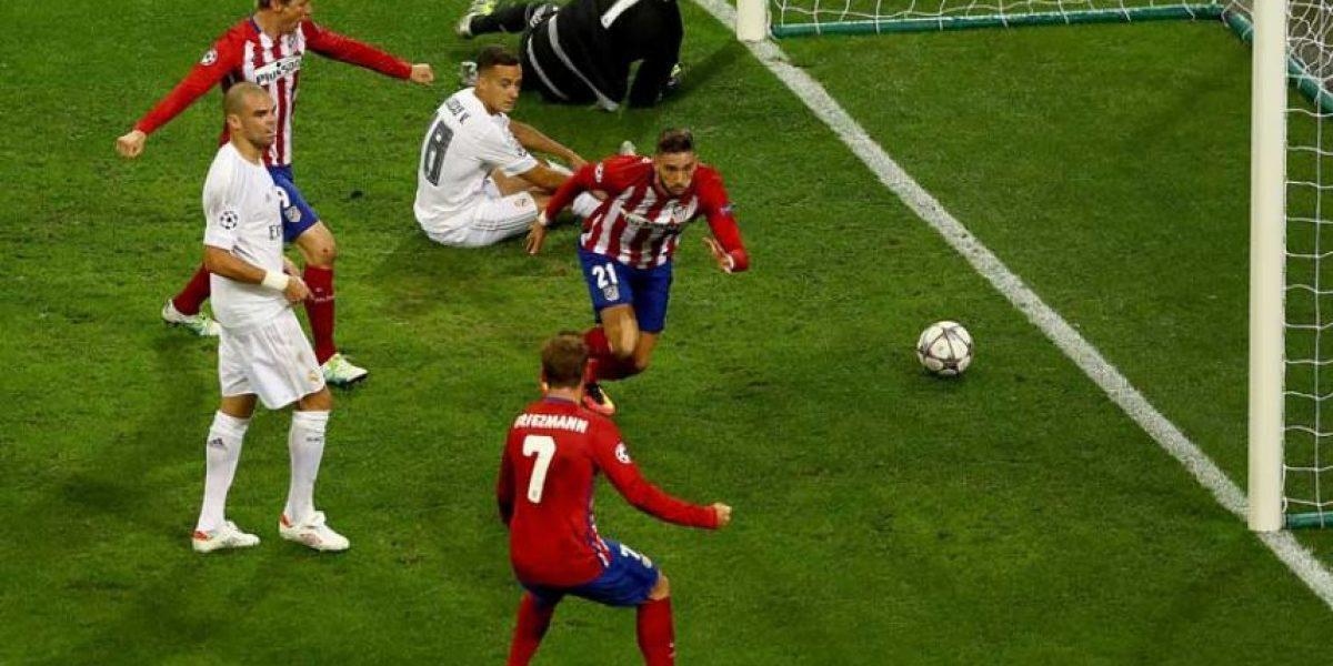 El romántico festejo de Yannick Carrasco en la final de Champions