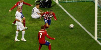 Yannick Carrasco marcó el gol del empate de Atlético de Madrid. Foto:Getty Images
