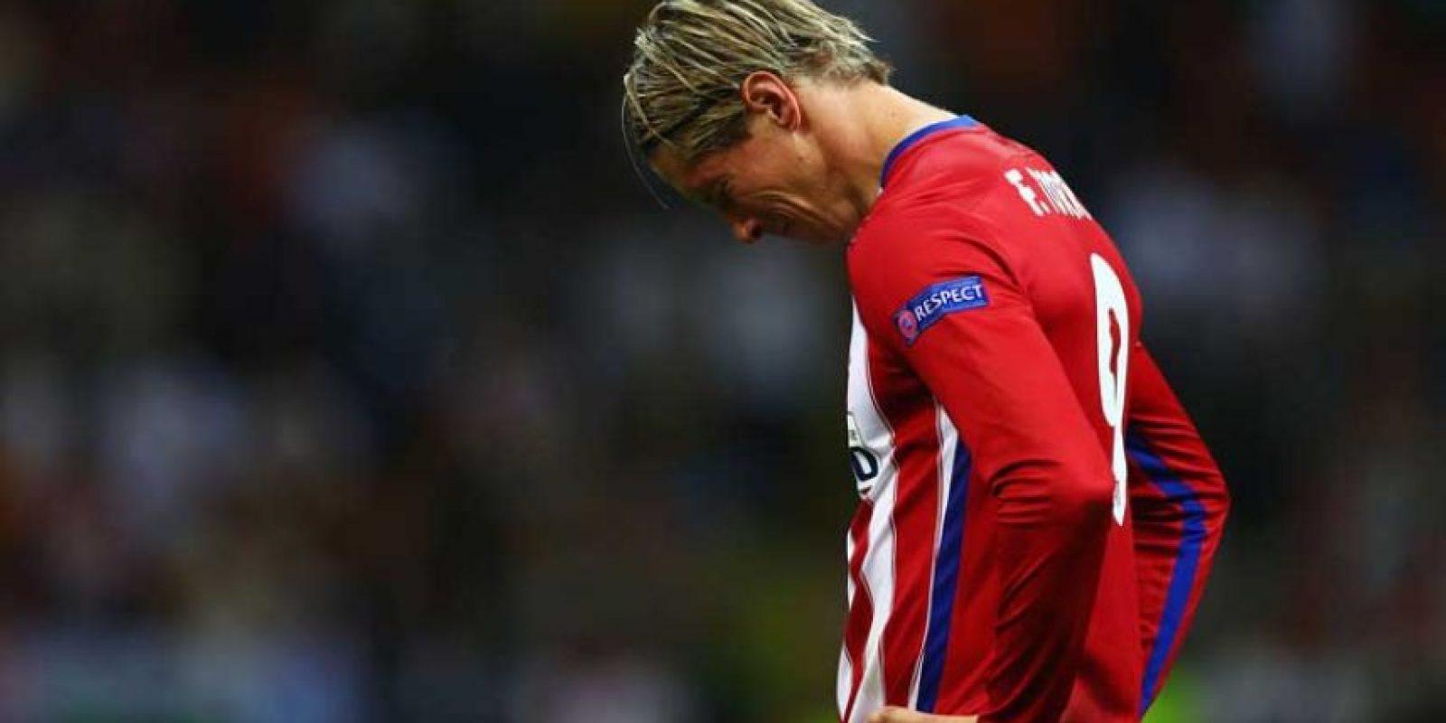 """Y el """"Niño"""" Torres no pudo ocultar su dolor al perder la final con el club de sus amores. Foto:Getty Images"""