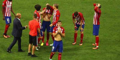 Pero del lado del Atlético… todo era dolor. Foto:Getty Images