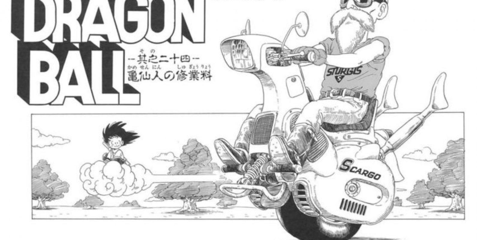 En el manga original también pueden ver varios modelos de motocicletas de una sola rueda. Foto:Animation Toei