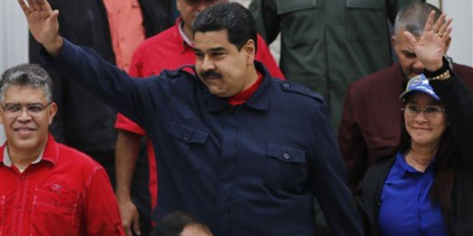 Maduro asumió su cargo tres días después de la muerte de Hugo Chávez el pasado 5 de marzo de 2013. Foto:AP