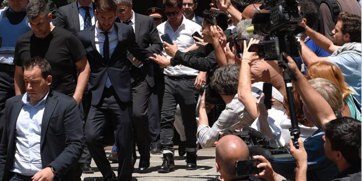 Messi se sienta en el banquillo de los acusados