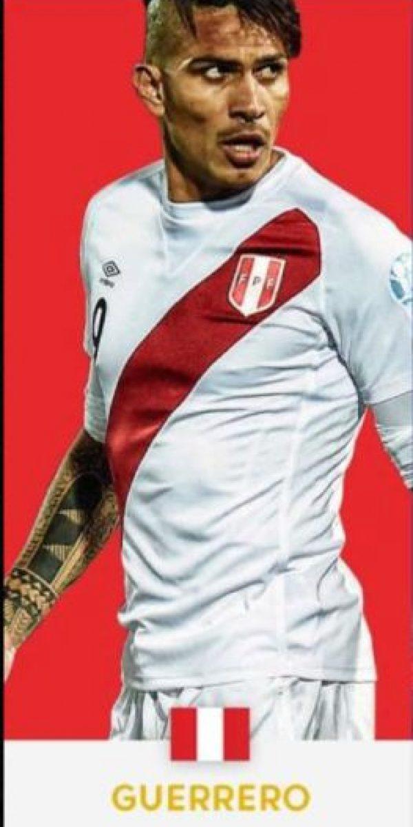 Paolo Guerrero (Perú/Flamengo) Foto:ca2016.com