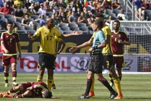La vinotinto consiguió un resultado positivo en su debut en la Copa y venció a los jamaiquinos en Chicago. Foto:AFP