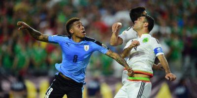 La selección de México se sintió como en casa en Phoenix y celebró una importante victoria. Foto:AFP