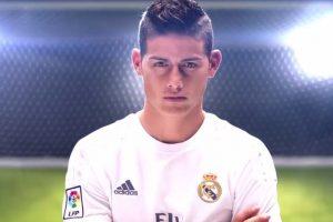 El mediocampista colombiano del Real Madrid, James Rodríguez, en el nuevo teaser trailer de FIFA 17. Foto:Facebook EA SPORTS FIFA Latinoamérica