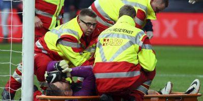 Jack Butland (arquero-Inglaterra): Sufrió una fractura de tobillo jugado por Inglaterra en marzo pasado. Aunque no es el titular, es llamado a ser el recambio de Joe Hart en el arco de Inglaterra y parecía preparado para tomar el puesto en caso de cualquier emergencia Foto:Getty Images