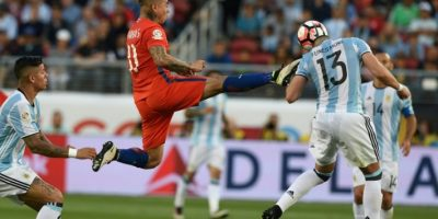 Argentina celebró en el Levi's Stadium su primer triunfo en la Copa América Centenario. Foto:AFP