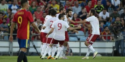 Los españoles se estaban despidiendo de su público antes de partir a Francia para jugar la Eurocopa Foto:AFP