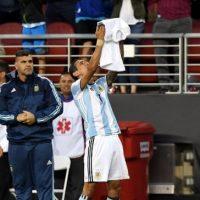 El puntero de Argentina había perdido a su abuela en la mañana del partido y le dedicó el tanto que abrió el marcador en el Levi's Stadium ante Chile Foto:AFP