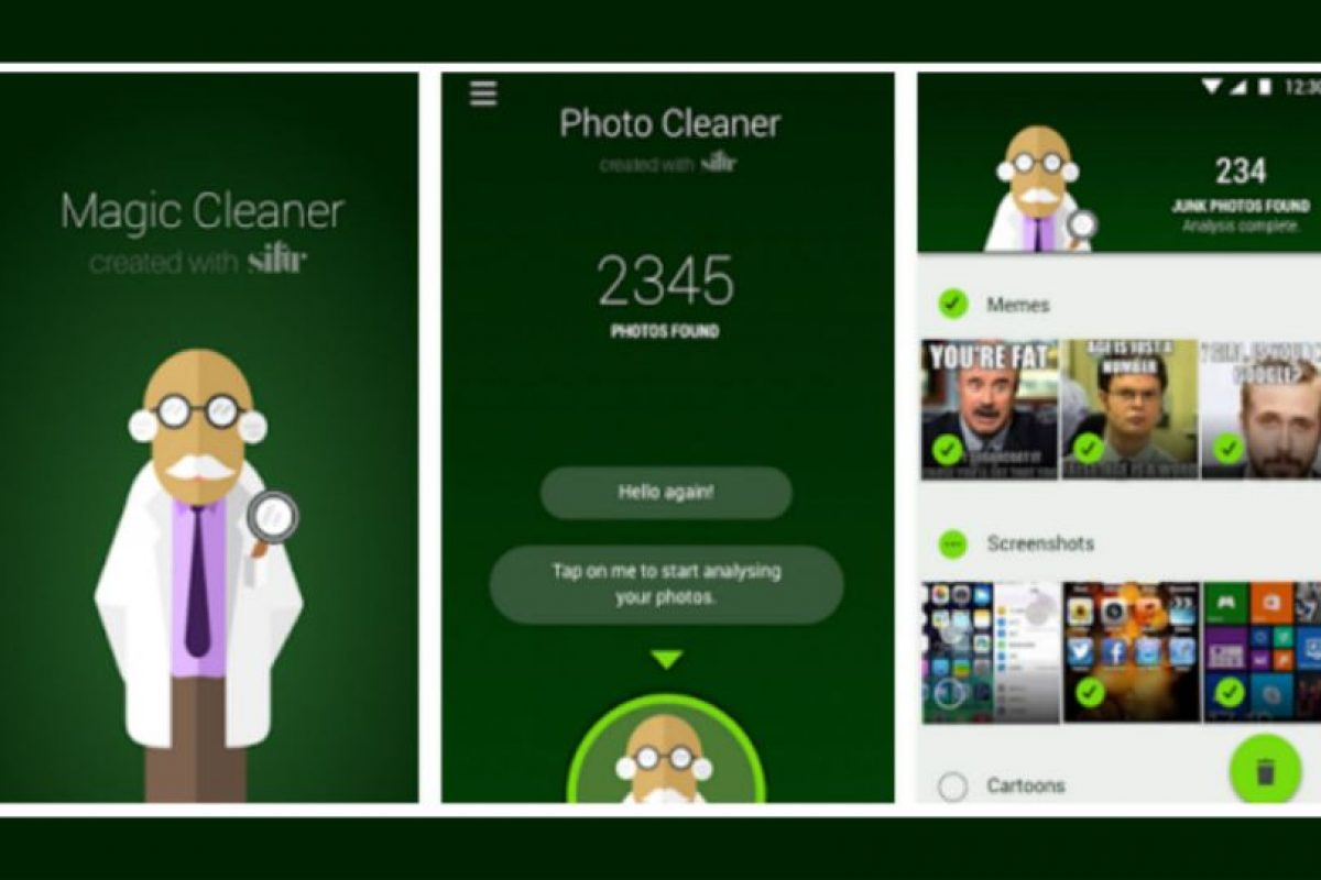 """Magic Cleaner for WhatsApp"" Foto:Magic Cleaner for WhatsApp"
