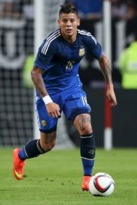 Defensas: Marcos Rojo (Argentina) – 1.9 millones de seguidores Foto: Getty Images
