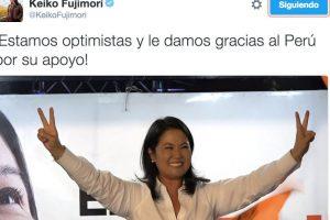 Keiko Fujimori agradeció el apoyo de sus seguidores Foto:Twitter.com/KeikoFujimori