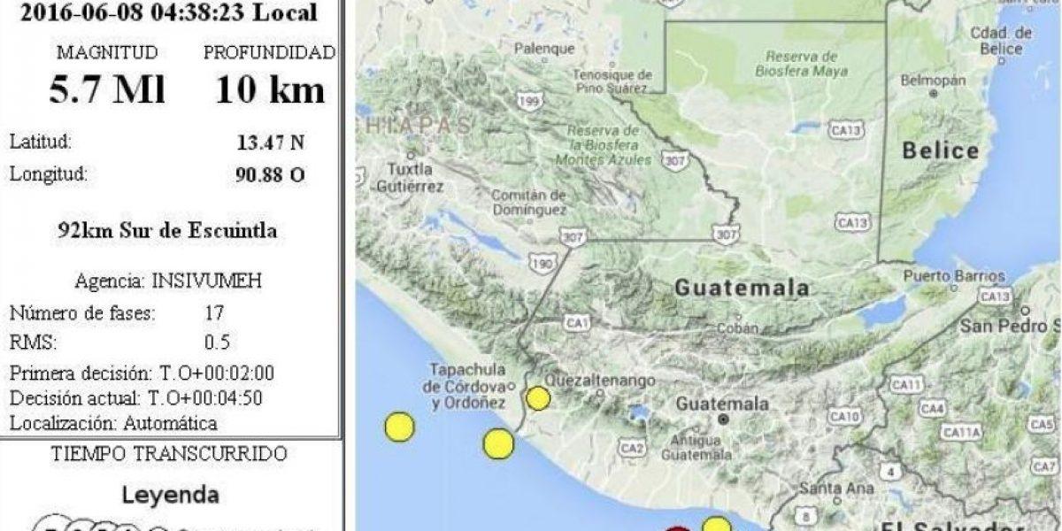 Temblor en Guatemala, hoy 8 de junio de 2016