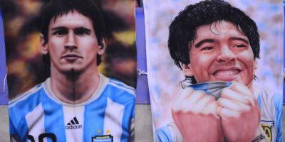 El exastro argentino se refirió a Messi en una conversación con Pelé, la exestrella de Brasil. Foto:AFP